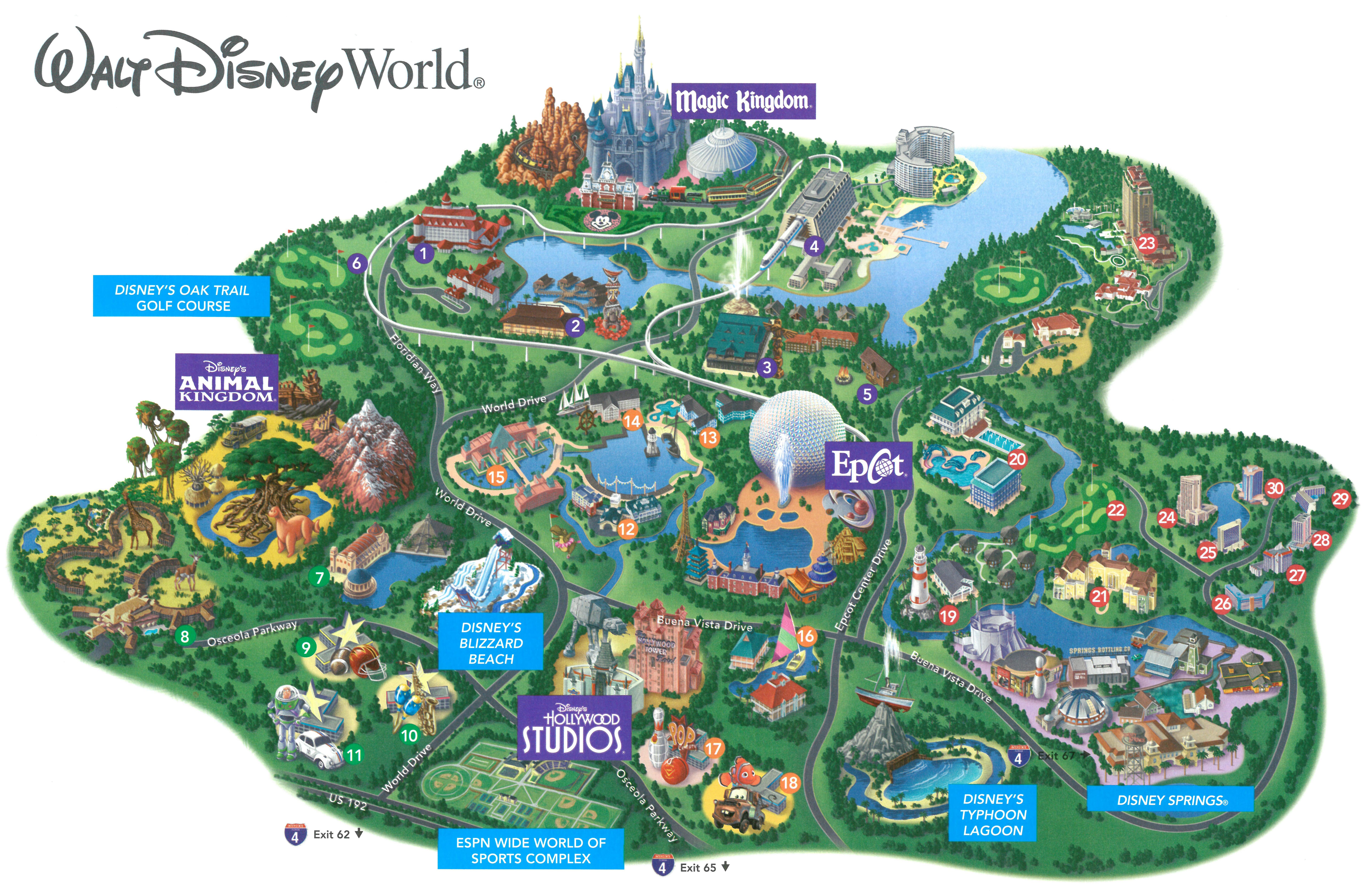 Walt Disney World Resort Overview Map